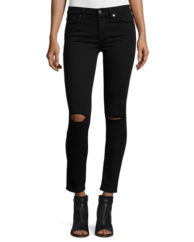 The Ankle Skinny Ripped Jeans, B[Air] Black