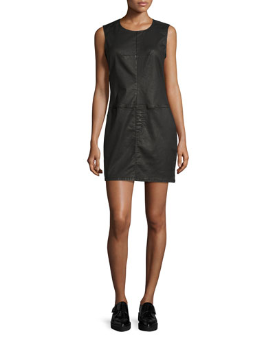 The Shift Dress, Black Coated