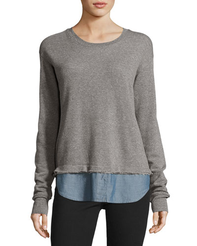 The Detention Sweatshirt, Heather Gray/Chambray