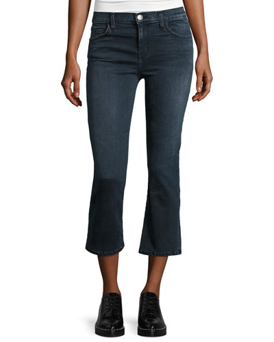 The Kick Flare-Leg Cropped Jeans, City Slicker