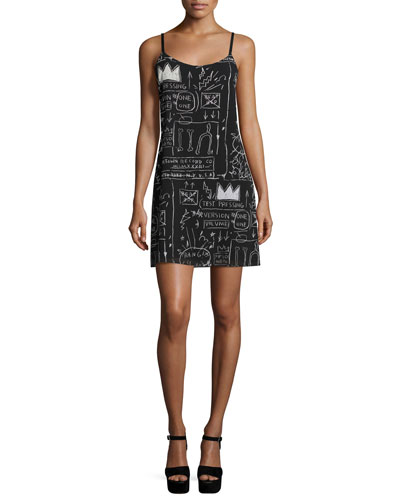 Emmie Printed Slip Dress