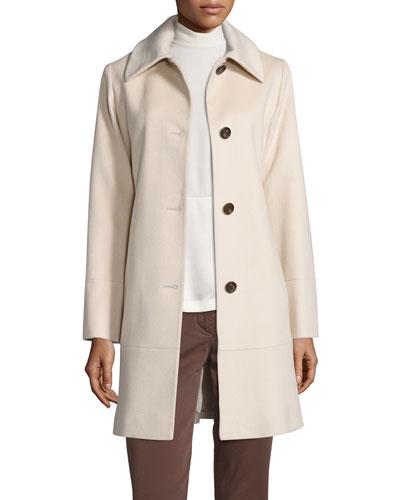 Classic Wool Coat, White