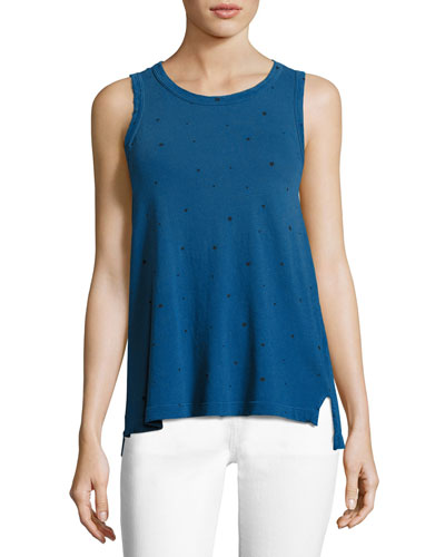 The Muscle Tee in Star Print, Blue