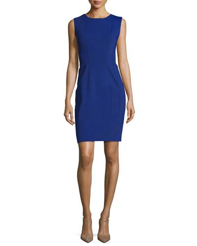 Marley Sleeveless Sheath Dress, Blue