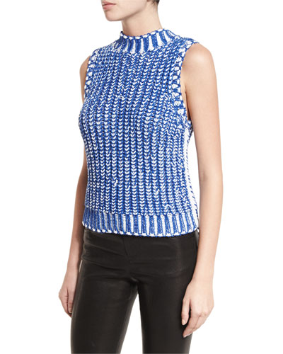Tomi Two-Tone Chunky Knit Top
