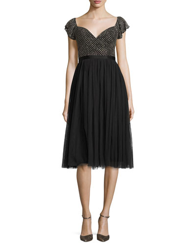 Swan Cocktail Dress, Black