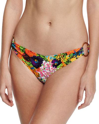 Barbados Floral-Print Swim Bottom