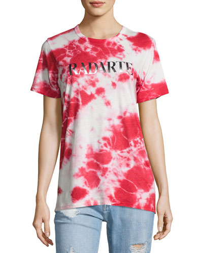 Radarte Logo Tie-Dye T-Shirt, Red Pattern