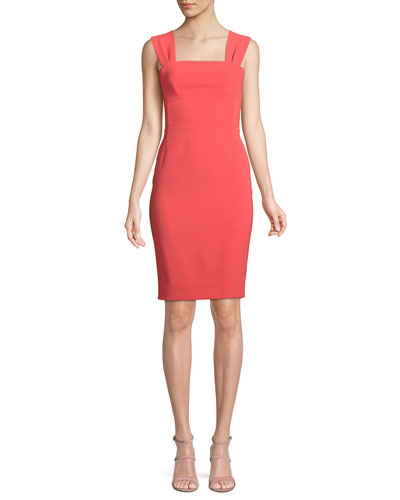 Bow-Back Sleeveless Sheath Dress