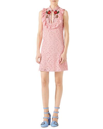 Cluny Lace Dress, Rose