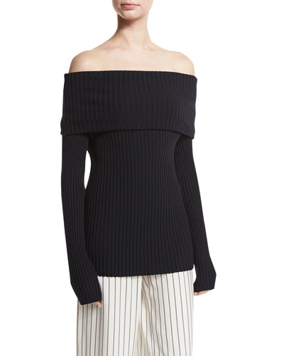 Tulah Ribbed Off-Shoulder Top