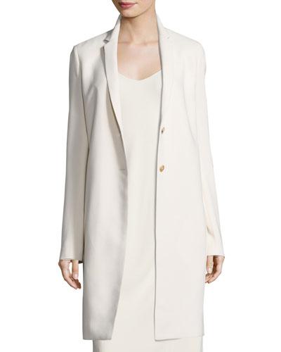 Brooxi Mid-Length Cady Coat, Cream