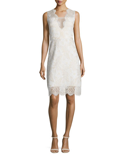 Anne Sleeveless V-Neck Lace Dress
