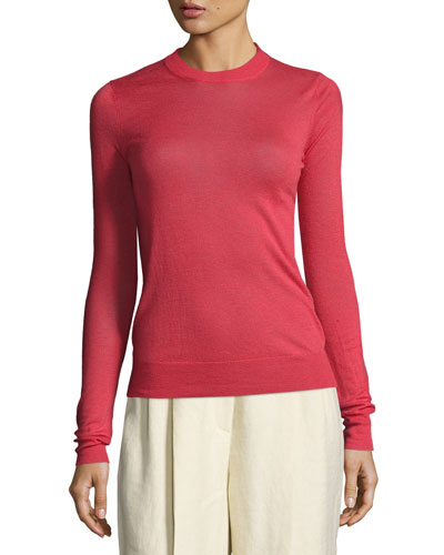 Lightweight Crewneck Cashmere Sweater