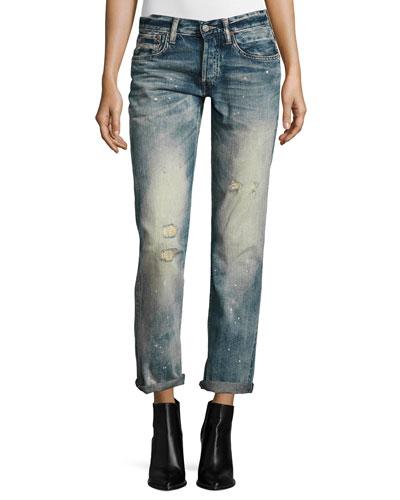 320 Boyfriend Jeans, Blue