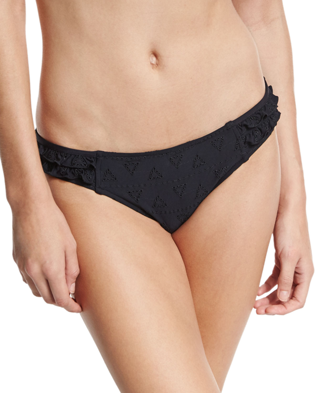 Lola Rae Hipster Swim Bikini Bottom, Black