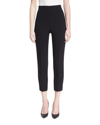 Classic Cropped Virgin Wool Pants