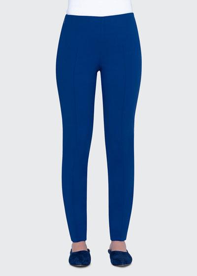 Melissa Techno-Stretch Slim-Leg Pants