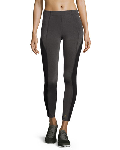 Colorblocked Mid-Rise Leggings, Gray/Black