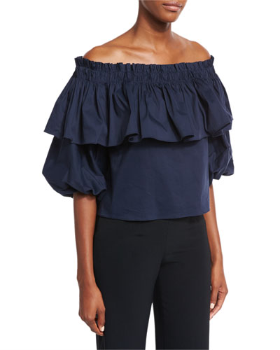 Barbie Off-the-Shoulder Ruffle Top
