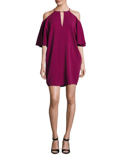 Andrea Cady Cold-Shoulder Dress, Purple