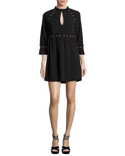 Ursula Laced Cady Dress, Black