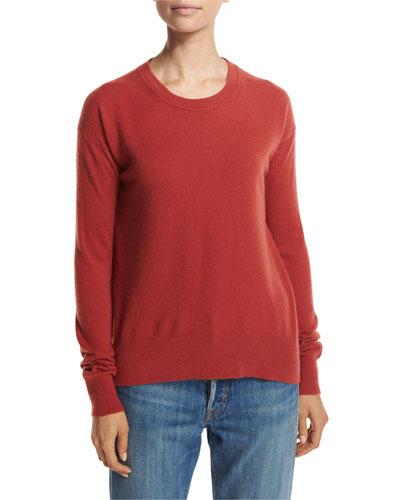 Boxy Cashmere Pullover Sweater