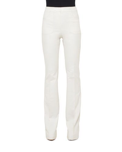 Farid Straight-Leg Linen Pants, White