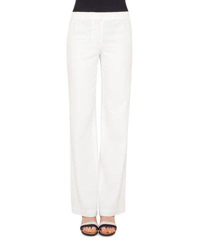 Marla Wide-Leg Pants, Cream