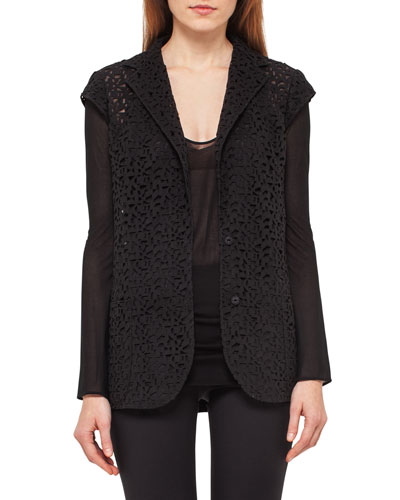 Laser-Cut Knit-Back Jacket