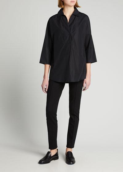 Elements Kimono-Sleeve Blouse, Black