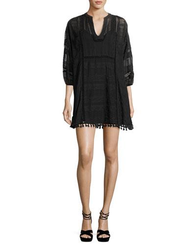 Gelina Lace 3/4-Sleeve Dress