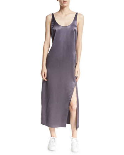 Lyla Charmeuse Slip Dress, Rock