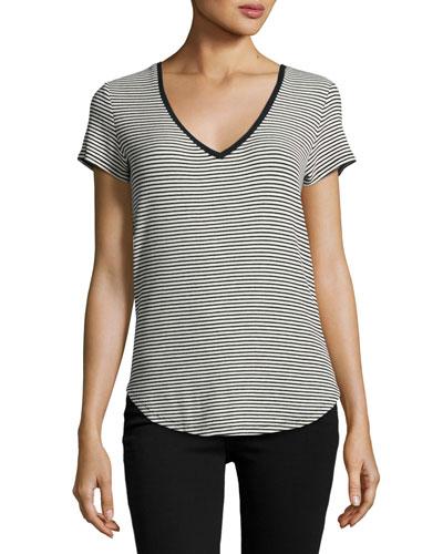 Lynnea Striped Tee, Black Pattern