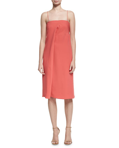 Draped Silk Cami Dress, Pink