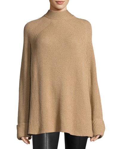 Angel Oversized Mock-Neck Sweater