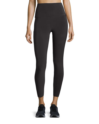 Cropped High-Rise Leggings, Pewter