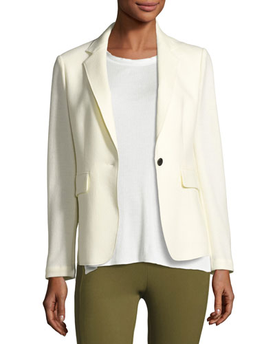 Wool Club Jacket, White