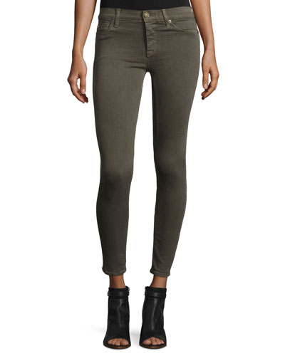 Nico Mid-Rise Super Skinny Jeans, Trooper Green