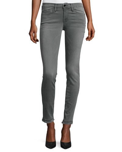 Le Skinny de Jeanne Double Raw-Hem Jeans, Marview