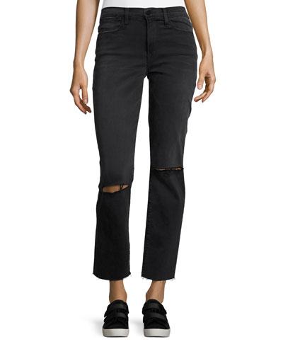 Le High Straight Raw Edge Jeans, Molony