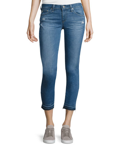 The Stilt Raw-Edge Cropped Jeans, 21 Years Breathless