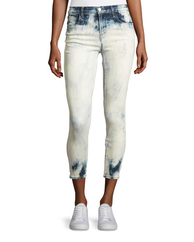Alana Bleached High-Rise Skinny Ankle Jeans, Trance
