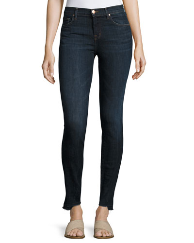 811 Mid-Rise Skinny Jeans with Step Hem, Disguise