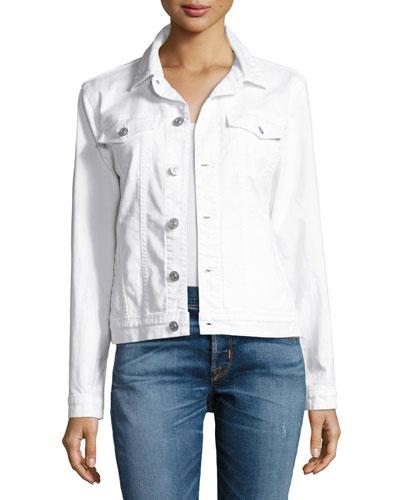 The Classic Denim Jacket, White