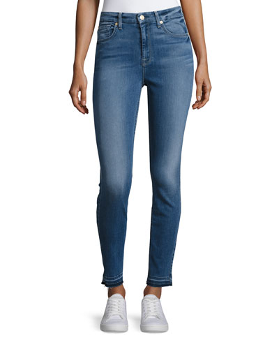 The High-Waist Ankle Skinny Jeans with Released Hem, B(Air) Sunset