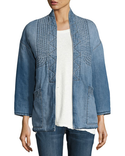 The Kimono Denim Car Coat, Seto