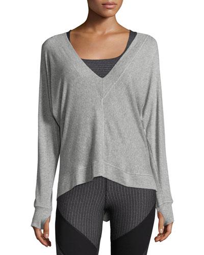 Serenity V-Neck Sweatshirt, Gray