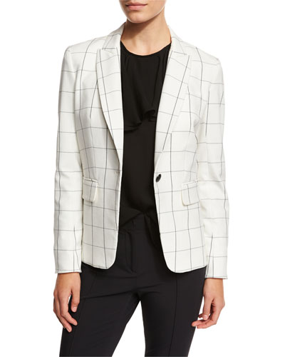 Clubhouse Cutaway Jacket, White/Black