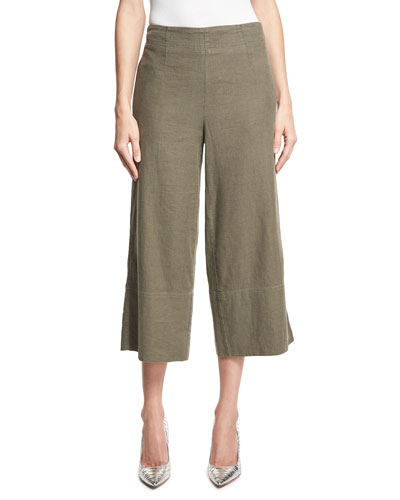 Casual Gaucho Pants, Olive